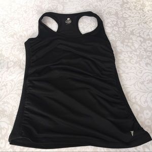 Women's Black Ruched Old Navy Athletic Top
